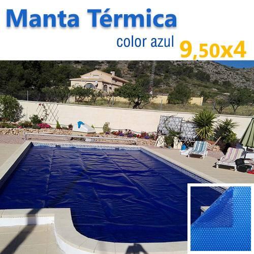 Manta termica piscina 9 50x4 azul jumitoldo manta for Manta termica piscina