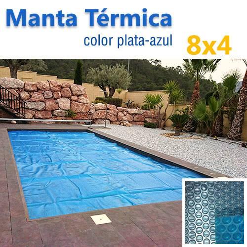 manta termica piscina 8x4 plata azul jumitoldo manta