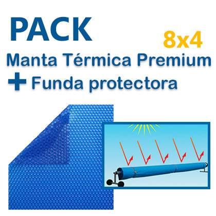 Pack Manta térmica premium 8x4 + Funda protectora